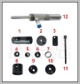 HCB-A7002 HONDA unteren Lenkerarm BÜSCHEN Abzieh / Einbau (Hydraulic DR
