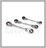 HCB-A2302 DOUBLE FLEXIBLE RATSCHEN Bördelmuttern SCHLÜSSEL (10x12 / 13x14 / 15x17mm) (3PCS)