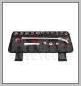HCB-A2301 75 ° BOX END & FLEXIBLE GEAR Ratsche mit GO-THROUGH SOCKET SET (17PCS)