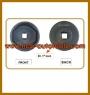 """HCB-A1050-6 BPW TRAILER HINTEN Radmuffe (12 TONNEN) (Dr. 1 """", OVAL, 111mm)"""